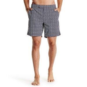 J. Crew Navy Honeycomb Swim Shorts